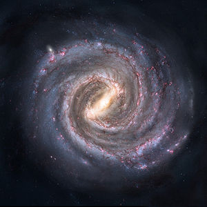 Artist's conception of the Milky Way galaxy.