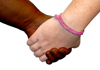 Two hands holding